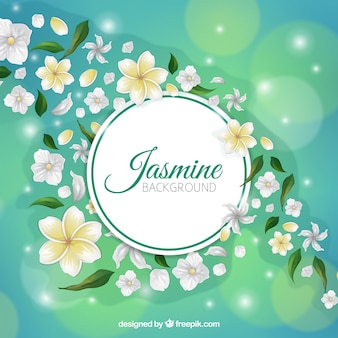 Shiny jasmine background