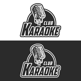Shiny karaoke club vector label
