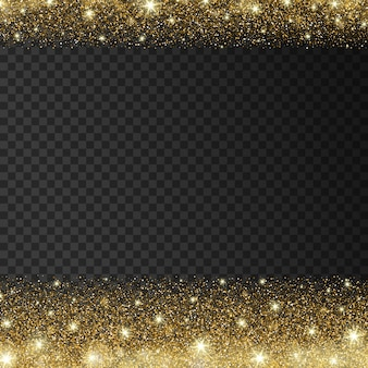 Shiny light background with golden sparkles