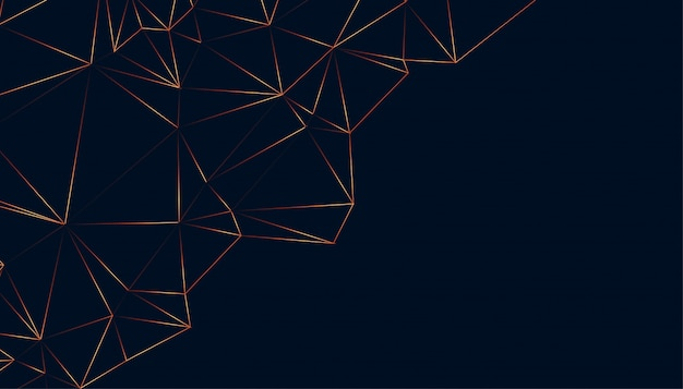 Shiny low poly abstract black background design