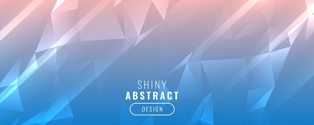 Shiny low poly triangle banner design