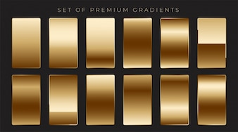 Shiny mettalic golden gradients collection