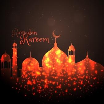 Shiny mosque background
