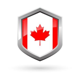Shiny national flag of canada