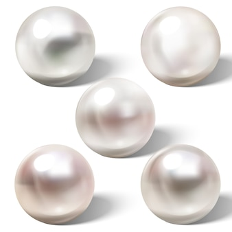 Shiny natural sea pearl with light effects