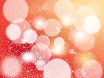 Shiny orange stars vector background