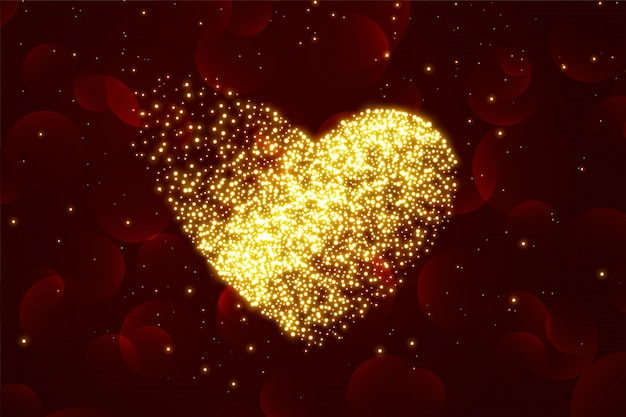 Shiny particle hearts background for valentines day