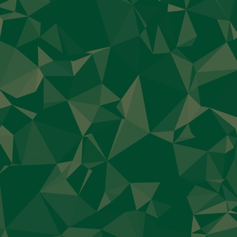 Shiny polygonal background in pine and emerald green tones