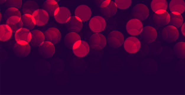 Shiny purple red bokeh banner with text space