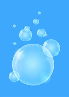 Shiny quality bubble liquid background