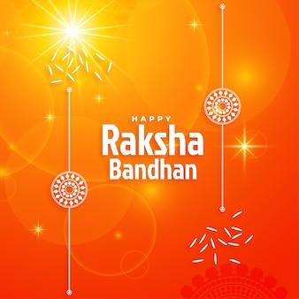 빛나는 raksha bandhan 축제 배경 디자인