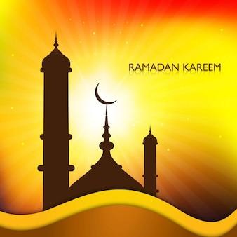 Блестящий фон рамадан карим
