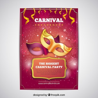 Shiny red carnival cover template
