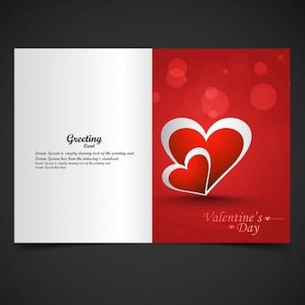 Bokeh 스타일에 빛나는 빨간 사랑 카드