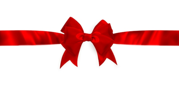 Shiny red satin ribbon.