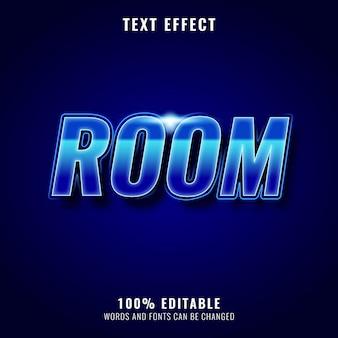 Блестящая комната с неоновым текстовым эффектом
