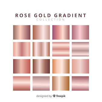 Shiny rose gold gradient pack