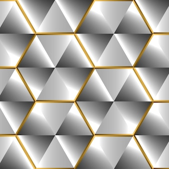 Shiny silver background with d effect and golden glossy elements with flares