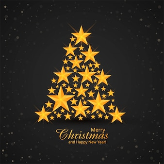 Shiny sparkles creative christmas tree background