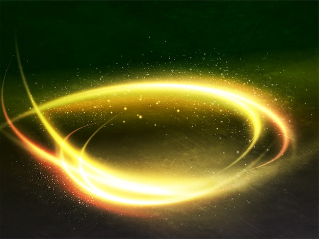 Shiny spiral golden lighting abstract background.