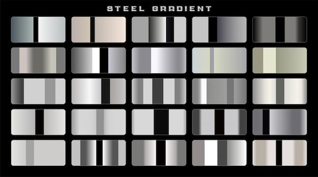 光沢のあるステンレス鋼のテンプレート