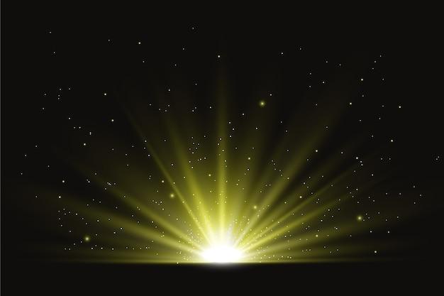 Световой эффект сияющего восхода солнца