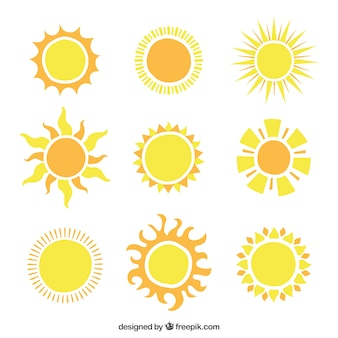 Shiny suns icons