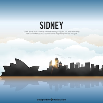 Shiny sydney skyline
