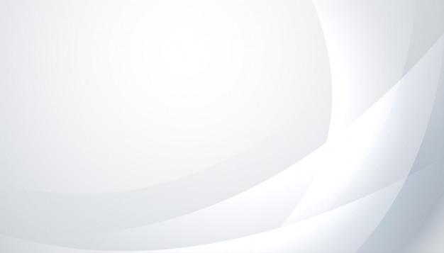 Блестящий белый и серый фон с волнистыми линиями