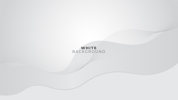 Блестящий бело-серый фон с волнистыми линиями