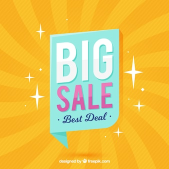 Shiny yellow background for sales