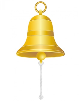 Ship bell vector illustration