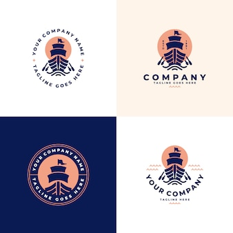 Ship, boat logo  collection