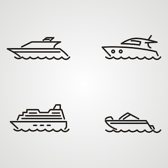 Дизайн логотипа лодочного судна