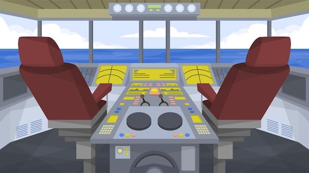 Кабина корабля - внутренние сцены