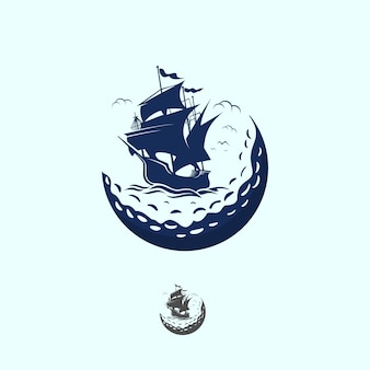 Ship golf vintage logo