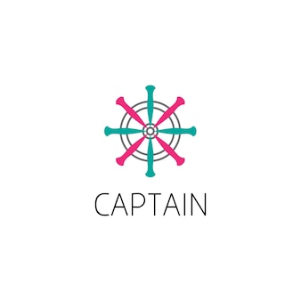 Ship helm logo graphic design concept. editable ship helm element, can be used as logotype, icon, template in web and print