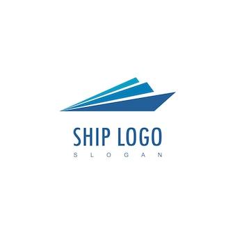 Ship logo design template