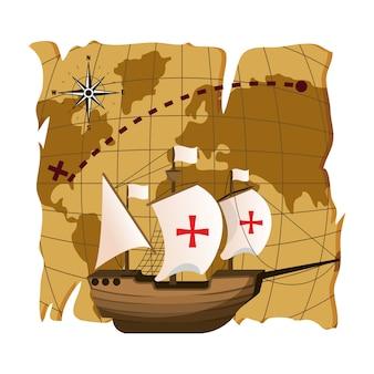 Ship navigation transport to america destination