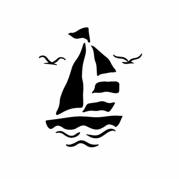 Ship symbol logo vector illustration