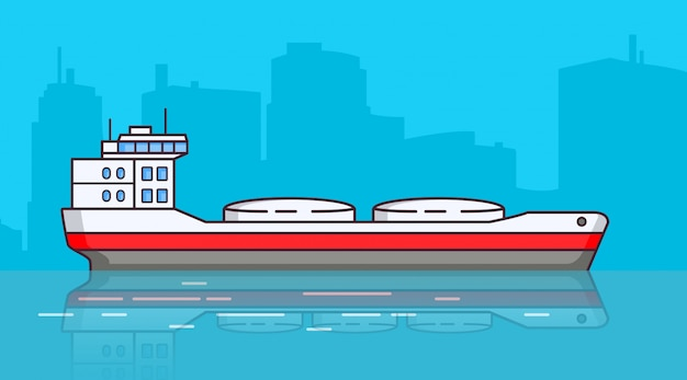 タンカー、貨物船を出荷します。