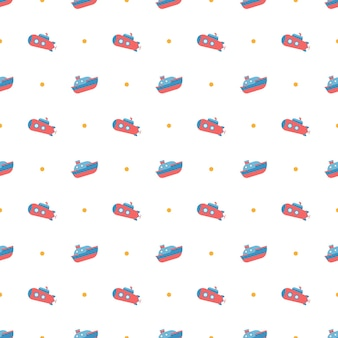 Ship toy for kids pattern background