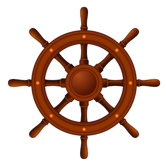 Ship wheel marine wooden