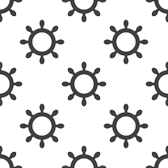 Ship wheel, vector seamless pattern, editable can be used for web page backgrounds, pattern fills