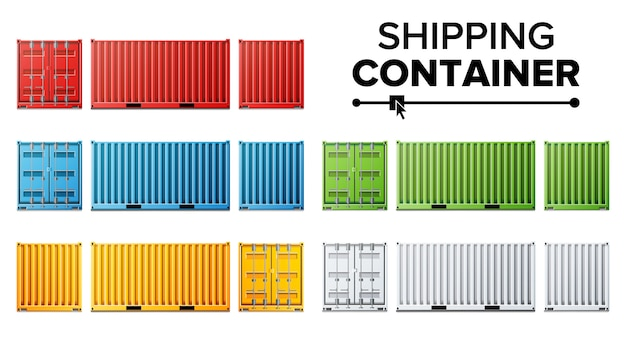 Shipping cargo container set