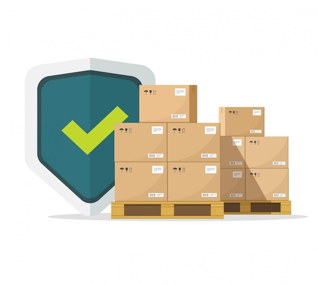 Shipping insurance for freight cargo delivery guarantee