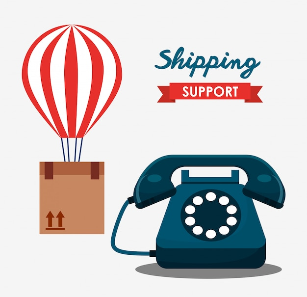Shipping support illustration