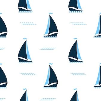 바다 완벽 한 패턴에서 배송입니다. 해양 배경입니다.