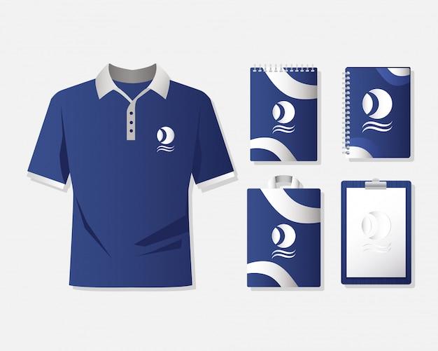 Рубашка одежда и набор брендов