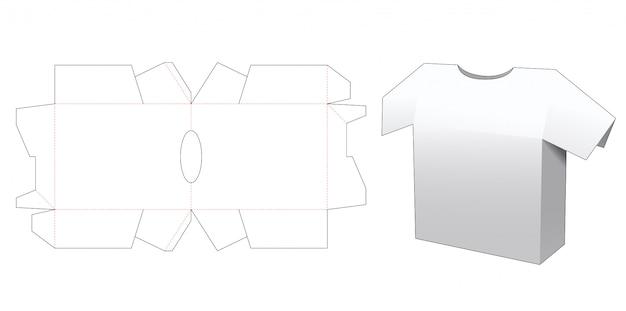 Shirt packaging box die cut template